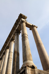 Temple of Saturn in Roman Forum, Rome, Italy