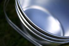 Wiadra, metal, aluminium, sprzątanie gospodarstwa domowego