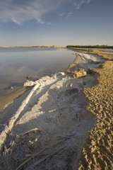 Salt Crusted Shoreline Of Lake Siwa, Siwa Oasis, Egypt