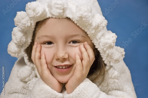 Portrait Of A Young Girl In Robe With Hood