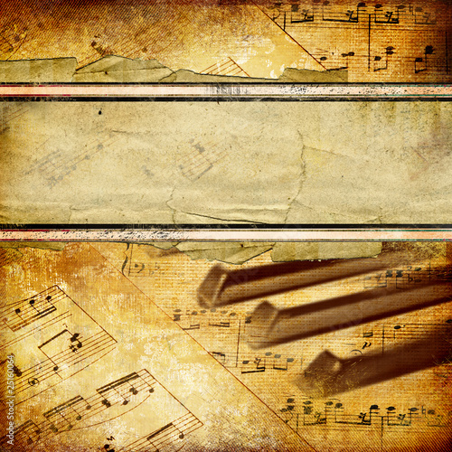 canvas print picture musical retro background