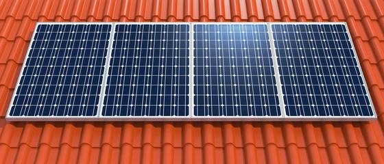 Solar roof panorama