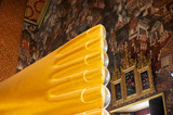 Golden toes of reclining Buddha Wat Pho Bangkok