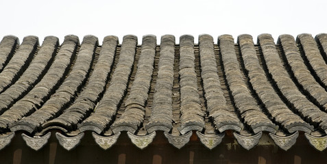 Chinese style roof tiles.