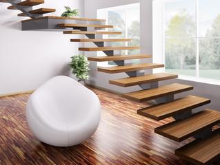 Treppe und Sessel 3d