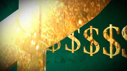 dollar signs turning in circle