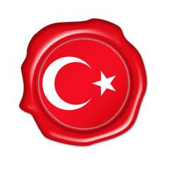 turkey button, seal, stamp