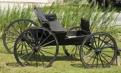 antique cart on display