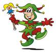 Joker Dancing Green Red - 25172664