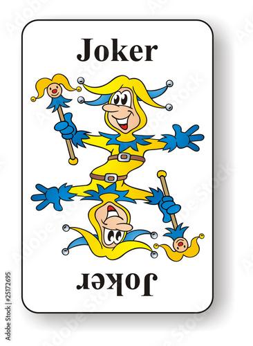 joker card yellow blue stockfotos und lizenzfreie bilder. Black Bedroom Furniture Sets. Home Design Ideas