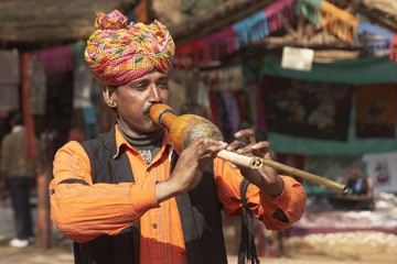 Tribal Musician from Rajasthan, India