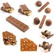 chocolate and caramel bars.