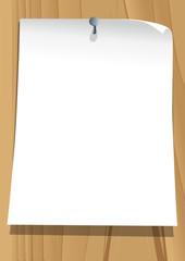 Zettel auf Holzbrett
