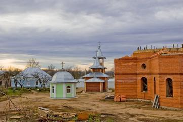Строительство храма Спасо-Казанский симанский женский монастырь
