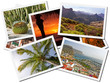 Collage of Gran Canaria postcards