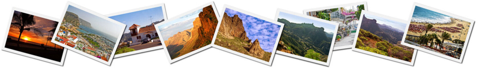Collage of Canary Islands photos