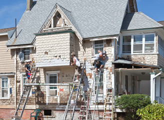 Beach house under remodeling in Ocean Grove