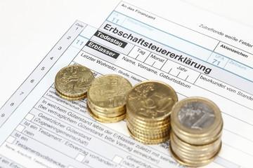 Steuerformular für die Erbschaft