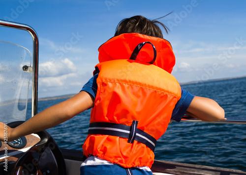 Child with life vest
