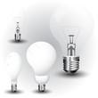 realistic vector-illustration of a economy light bulb collection