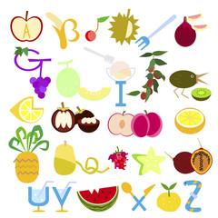 fruit alphabetic