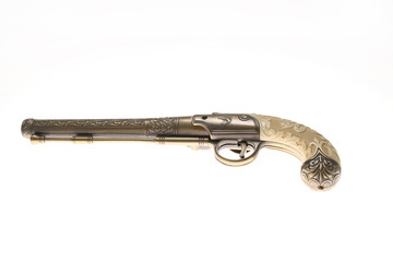 Vintage Gun on seemless white background