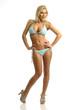 Blond girl in a bikini