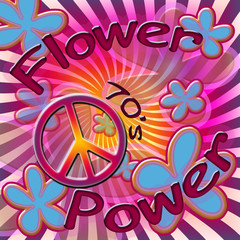 Seventies power flower