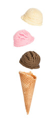 Falling Ice Cream Flavours