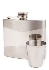 Hip flask isolated