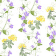 Yellow roses seamless background