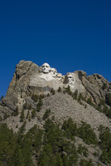 A view of Mt. Rushmore, near Keystone, South Dakota.