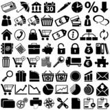 e-commerce Black Icons poster