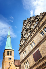 Marktkirche und Hochzeitshaus in Hameln, Deutschland