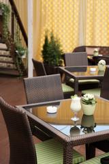 Summer terrace of a restaurant