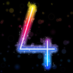 Number Rainbow Lights  Glitter with Sparkles