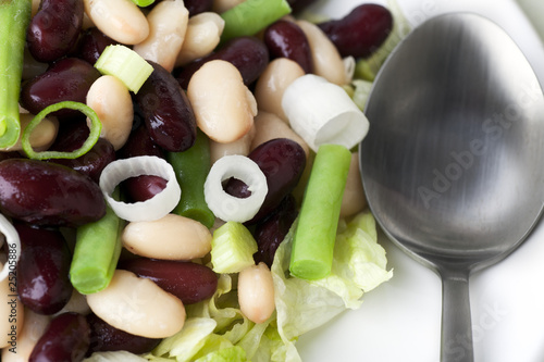 Three Bean Salad Close Up