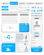Webdesign elements pack 1 with silver and blue color