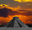 The temples of chichen itza temple in Mexico