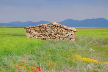Refugio de pastores en la montaña