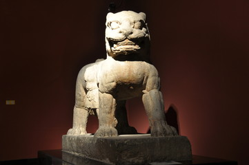stone lions ;chinese architecture;sculpture