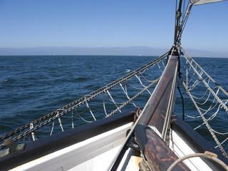Bowsprit of Schooner; Ventura Coast, CA