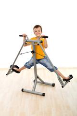 Happy boy in the gym