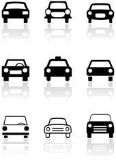 Car symbol vector set.