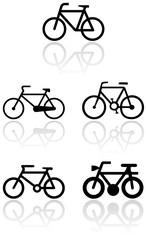 Bike symbol vector set.