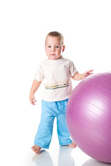 boy with the fitness ball