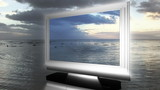 3D LCD TV in the sea