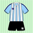 Argentina football uniform
