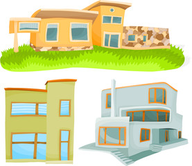Set of a various houses A