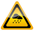 Rainy weather warning sign